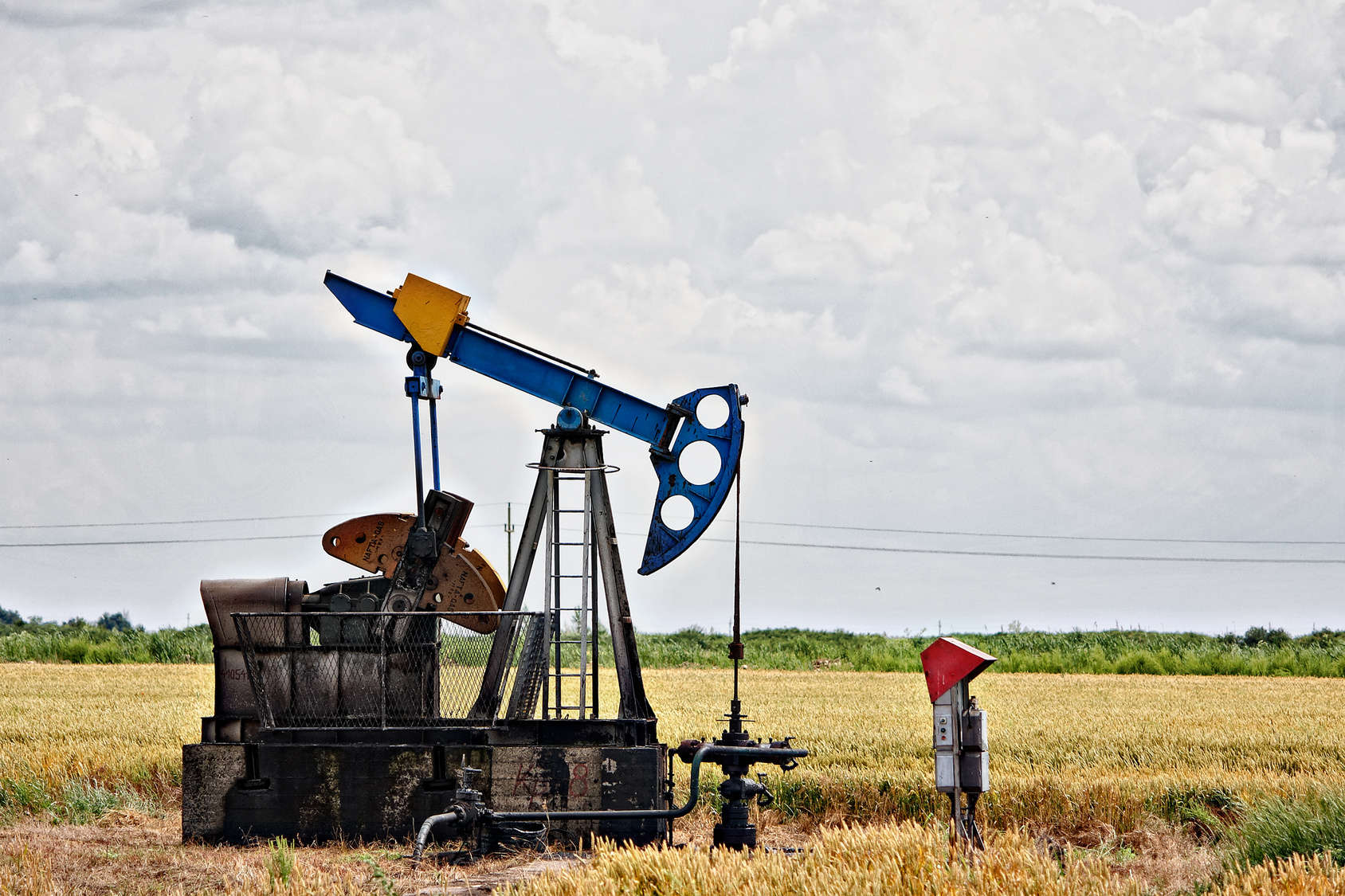 Oil pump, Oil industry equipment, industrial machine for petroleum