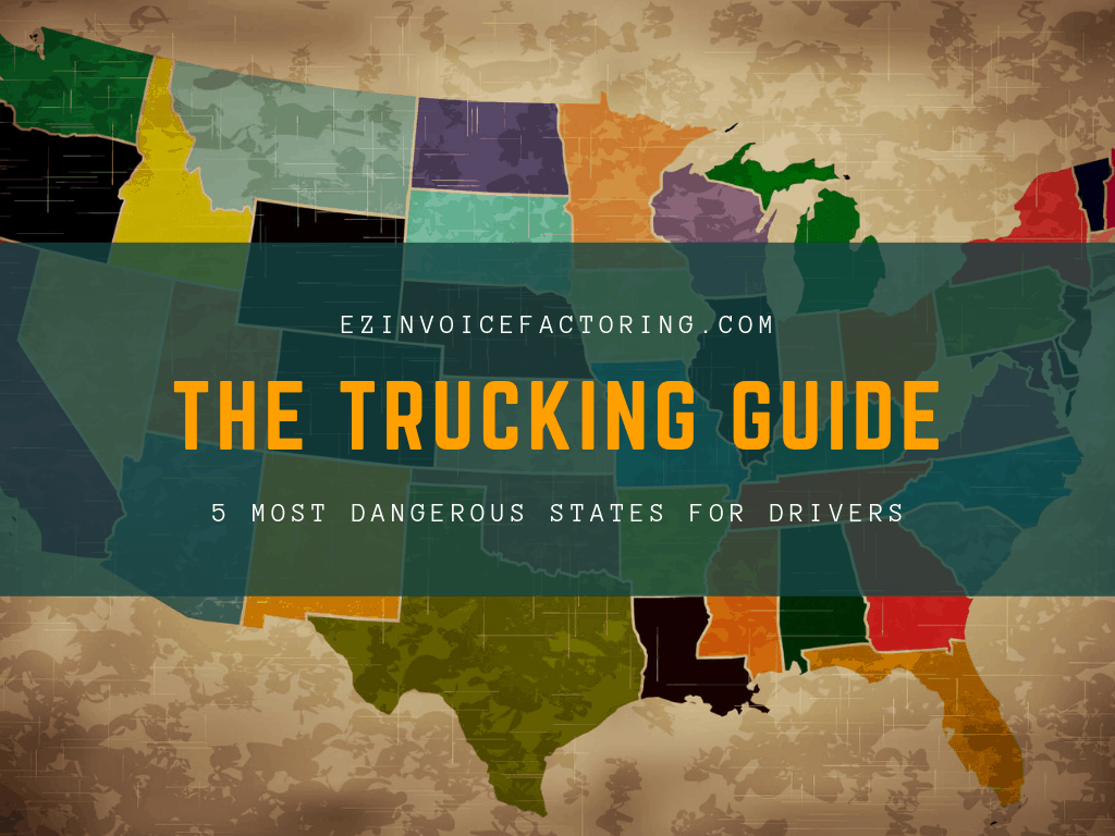state map for the 4 dangerous states for drivers
