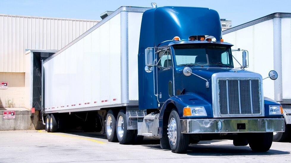Blue freight truck2
