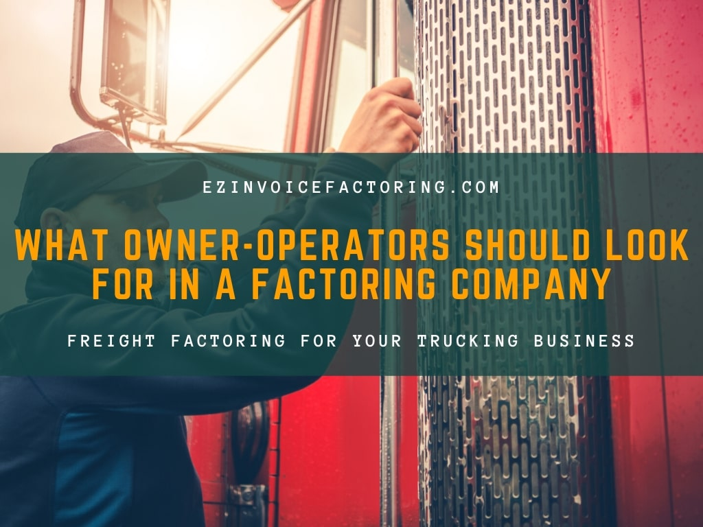Freight factoring for owner-operators blog title